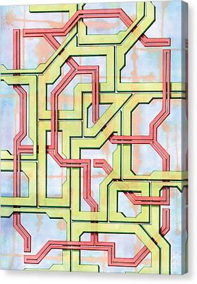 Tech Web Canvas Print by Kevin Trow