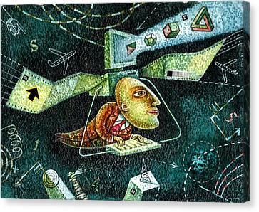 Technology Canvas Print by Leon Zernitsky