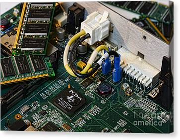 Technology - The Motherboard Canvas Print by Paul Ward