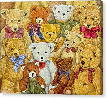 Ted Patch Canvas Print by Ditz