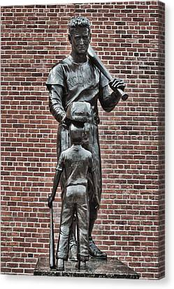 Ted Williams Statue - Boston Canvas Print by Joann Vitali