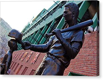 Ted Williams Statue Canvas Print by John McGraw