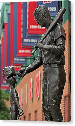 Ted Williams Tribute Canvas Print by Juergen Roth