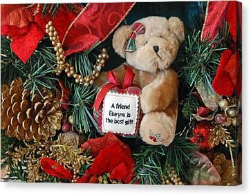 Teddy Bear Friends Canvas Print