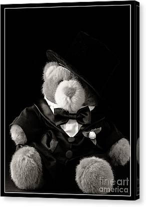 Announcement Canvas Print - Teddy Bear Groom by Edward Fielding
