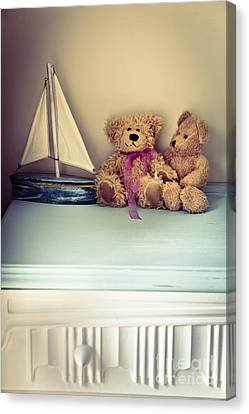 Toy Boat Canvas Print - Teddy Bears by Jan Bickerton