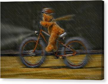 Teddy Going Hard 01 Canvas Print by Kevin Chippindall