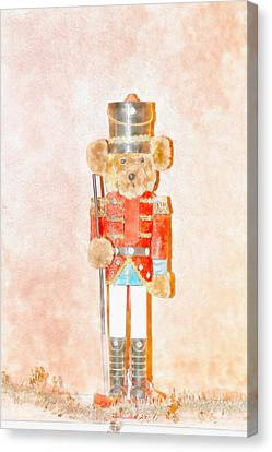 Teddy Nutcracker Canvas Print