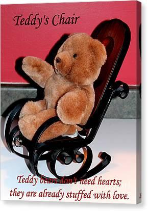 Teddy's Chair - Toy - Children Canvas Print by Barbara Griffin