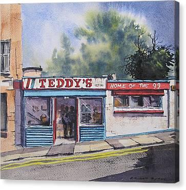 Teddy's Canvas Print by Roland Byrne
