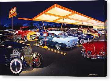 Teds Drive-in Canvas Print by Bruce Kaiser