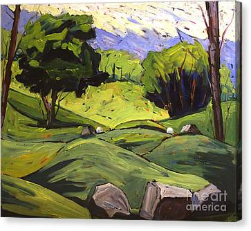 Tee Off Canvas Print by Charlie Spear