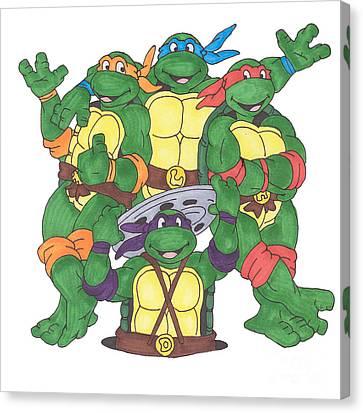 Raphael Canvas Print - Teenage Mutant Ninja Turtles  by Yael Rosen