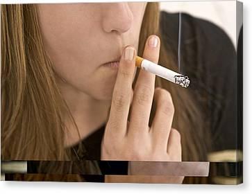 Teenager Smoking Canvas Print