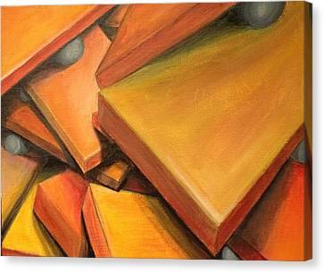 Hidden Face Canvas Print - Teetering Man by D August