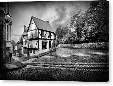 Canvas Print featuring the photograph Teetering On The Edge Of History by Russell Styles