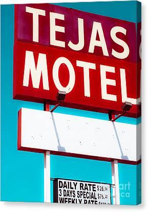 Tejas Motel Canvas Print