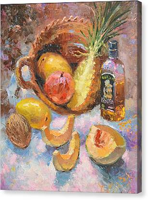 Canvas Print featuring the painting Tekila And Mango by Dmitry Spiros