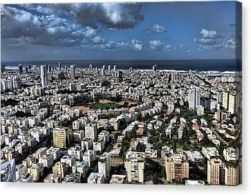 Tel Aviv Center Canvas Print by Ronsho