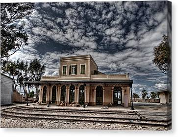 Canvas Print featuring the photograph Tel Aviv First Railway Station by Ron Shoshani