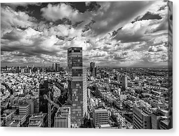 Canvas Print featuring the photograph Tel Aviv High And Above by Ron Shoshani