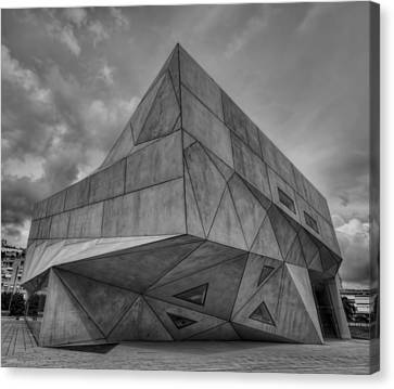 Canvas Print featuring the photograph Tel Aviv Museum  by Ron Shoshani