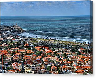 Canvas Print featuring the photograph Tel Aviv Spring Time by Ron Shoshani