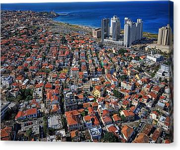 Canvas Print featuring the photograph Tel Aviv - The First Neighboorhoods by Ron Shoshani