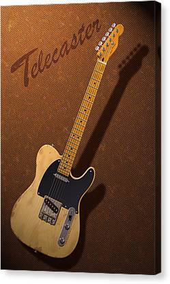 Telecaster Canvas Print by WB Johnston