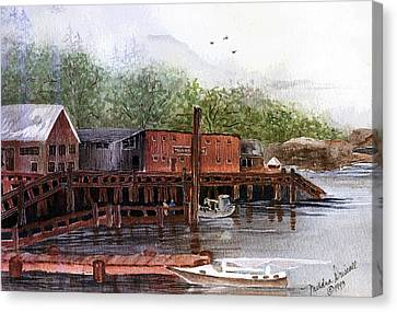Telegraph Cove Canvas Print by Meldra Driscoll