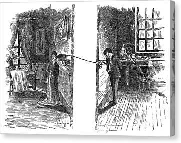 Telephone, 1876 Canvas Print by Granger
