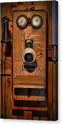 Telephone - Antique Wall Telephone Canvas Print by Lee Dos Santos
