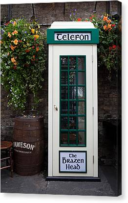 Telephone Kiosk, The Brazen Head Pub Canvas Print by Panoramic Images