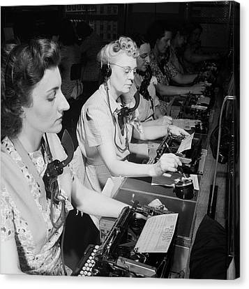 Telephone Operators Canvas Print