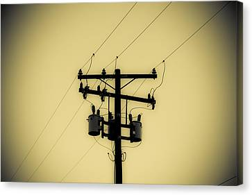 Telephone Pole 1 Canvas Print by Scott Campbell