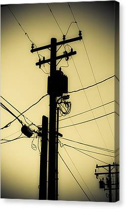 Telephone Pole 2 Canvas Print by Scott Campbell