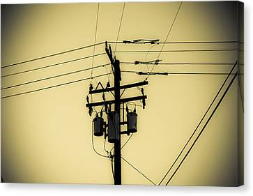 Telephone Pole 4 Canvas Print by Scott Campbell