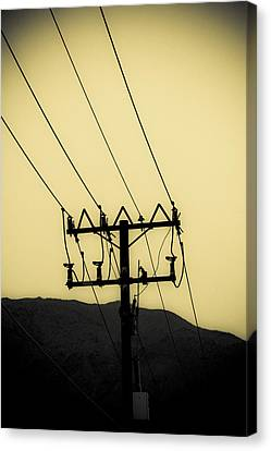 Telephone Pole 6 Canvas Print by Scott Campbell