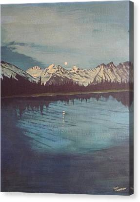 Canvas Print featuring the painting Telequana Lk Ak by Terry Frederick