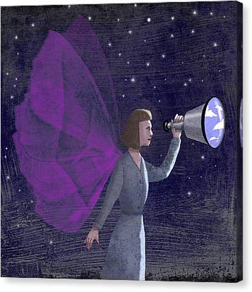Telescope Canvas Print by Steve Dininno