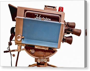 New Stage Canvas Print - Television Studio Camera Hdr by Edward Fielding