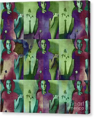 Teller / Early Shadows X9 Canvas Print
