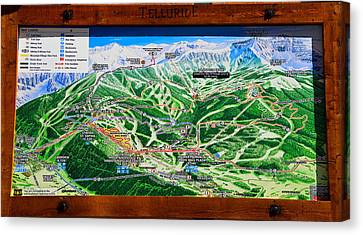 Telluride Ski Map Detail  Canvas Print
