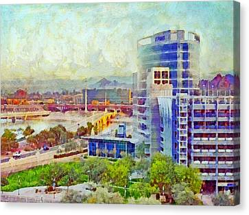 Tempe Arizona Skyline In The Early Morning Canvas Print