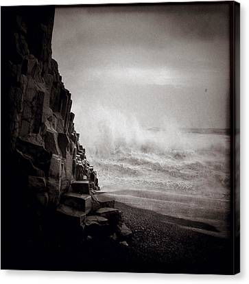 Raging Sea Canvas Print by Dave Bowman