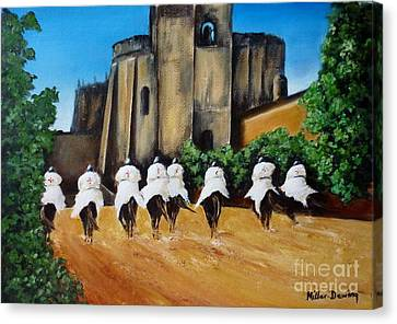 Templar Knights And The Convent Of Christ Canvas Print