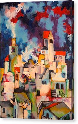 Templars' Colony Jerusalem Canvas Print by Moshe BenReuven