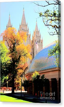 Temple And Tabernacle Canvas Print by Kathleen Struckle