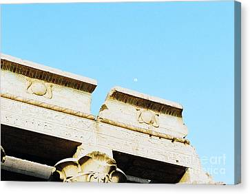 Canvas Print featuring the photograph Temple At Luxor by Cassandra Buckley