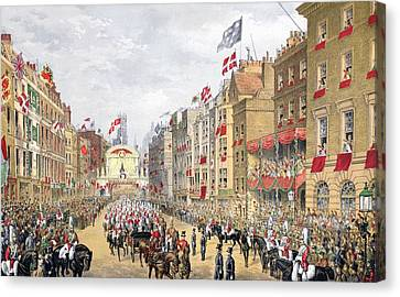 Temple Bar, 7th March, 1863, From A Canvas Print by English School